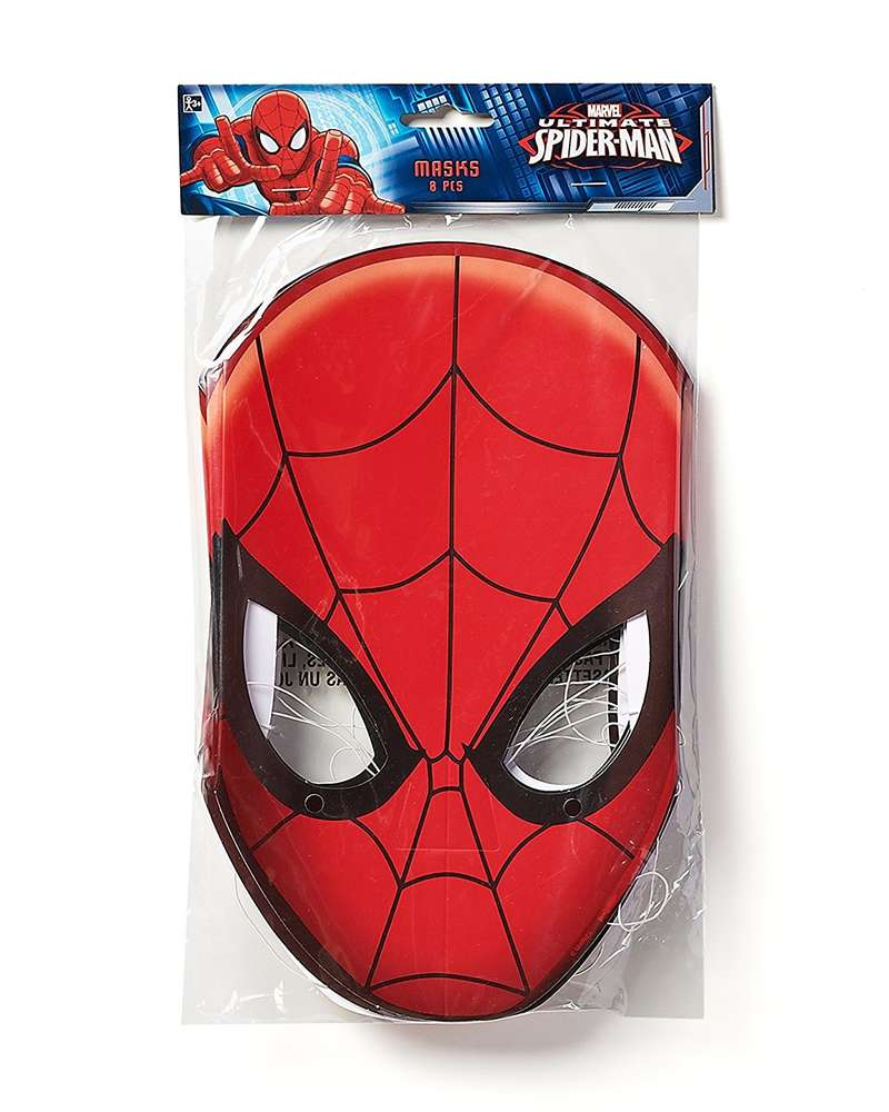 outlet store sale official supplier new style 8 MASCHERE SPIDERMAN DI CARTA