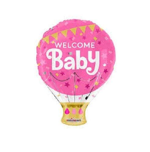 PALLONE MYLAR WELCOME BABY ROSA 45 CM