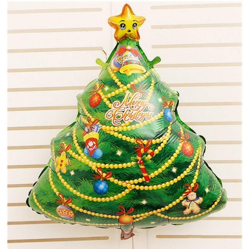 Albero Di Natale 75 Cm.Pallone Mylar Super Shape Albero Di Natale 75 Cm